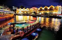 Singapore river boat cruise